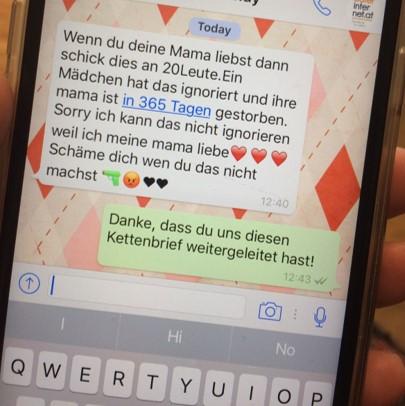 Kettenbrief whatsapp liebes Kettenbrief: Hat